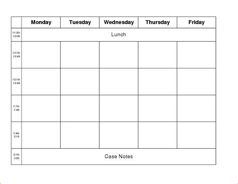 week work schedule template 4 week calendar template calendar template 2016