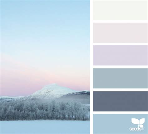 winter color palette winter horizon design seeds