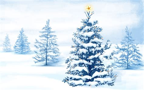 christmas snow trees wallpapers hd wallpapers id 4792
