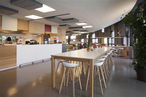 Kitchen Lighting Design Layout Agbar S Barcelona Corporate Cafeteria Office Snapshots