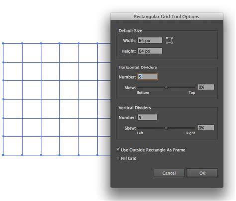adobe illustrator cs6 graphic design editing the size of rectangular grid tool in adobe