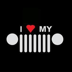 i love my jeep i love my jeep vinyl decal stickers sticker flare llc