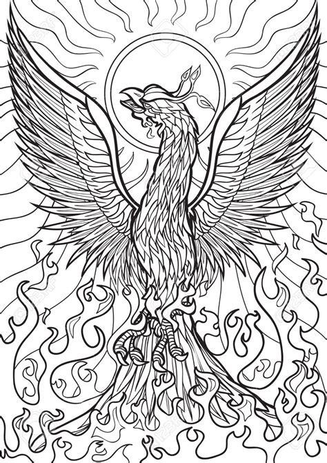 coloring pages phoenix bird phoenix bird coloring page free printable animals pages