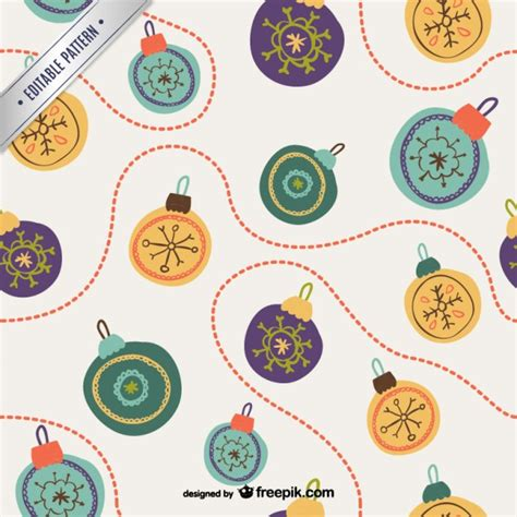 retro christmas pattern vector free retro christmas baubles pattern vector free download