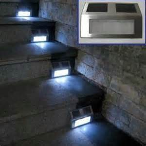 solar deck stair lights solar powered led garden stainless light led home stair