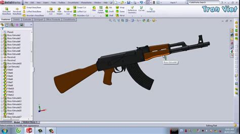 solidworks tutorial gun solidworks tutorial ak47 rifle youtube