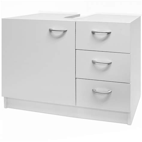 White Bathroom Storage Sink Basin Cabinet Bathroom Furniture Storage Unit
