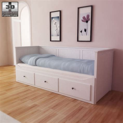 ikea hemnes bed ikea hemnes day bed 3d model game ready max obj 3ds