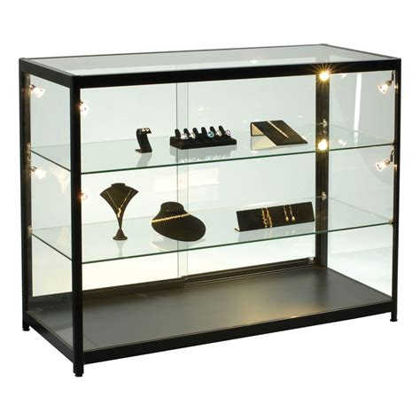 lighted display case 47 1 4 in wide specialty store