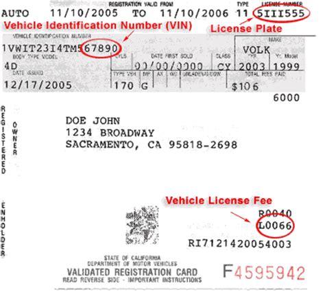Sample Registration Card