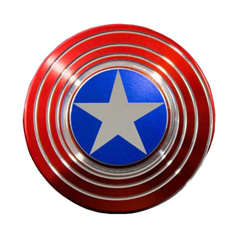 Sale Spinner Metal Shield special edition captain america optical illusion spinner gx015