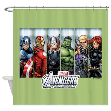avengers shower curtain avengers assemble shower curtain by theavengers