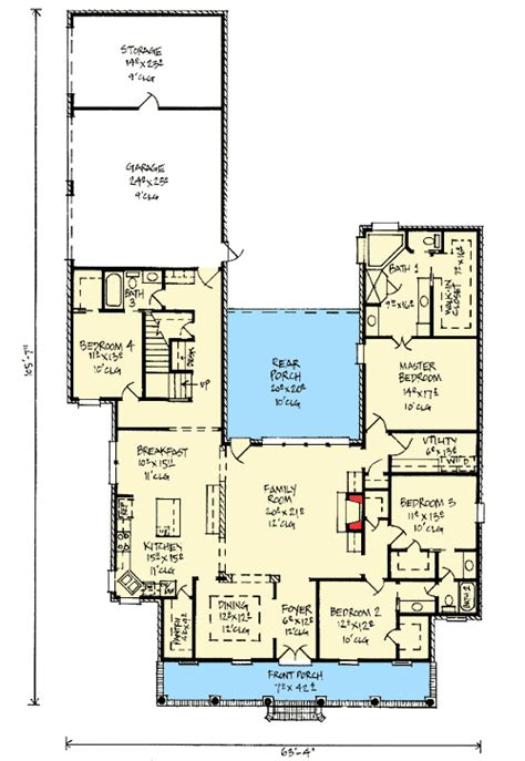 house plans with outdoor living acadian home plan with outdoor living room 14177kb