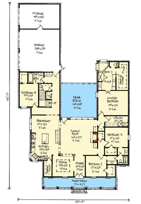 outdoor living floor plans acadian home plan with outdoor living room 14177kb