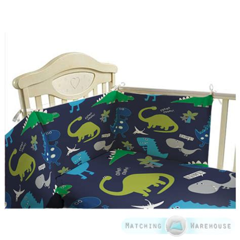 Baby Bedding Set 26 Dino childrens nursery bedding set 3pc cot bumper baby duvet