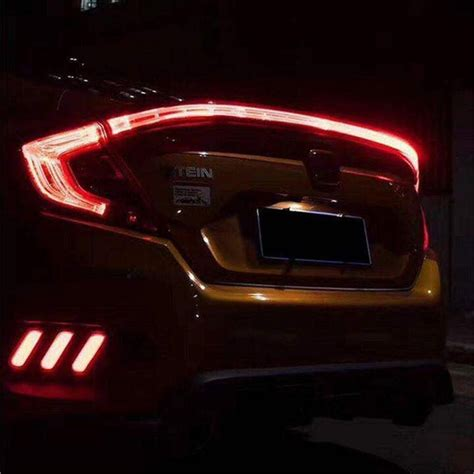 rear led light bar buy honda civic fc 2016 2017 eagle rear center
