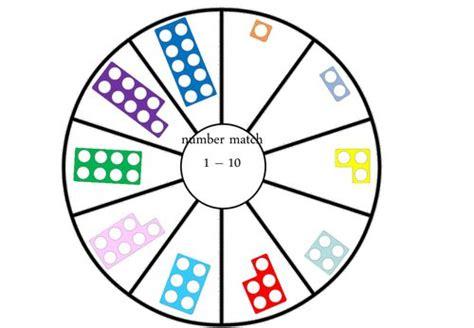 printable numicon games numicon circle match game mathematics pinterest
