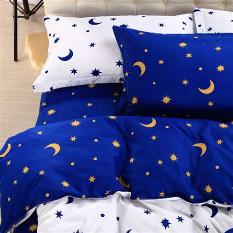 moon bedding 4pcs suit star moon cotton reactive printed bedding sets