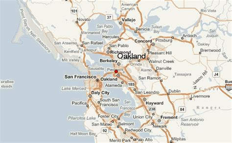 oakland map oakland location guide
