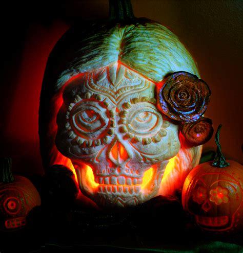 sugar skull with beet roses by snerk on deviantart