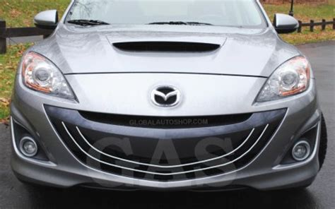 mazda 3 grill mazdaspeed3 hrome grill custom grille grill inserts