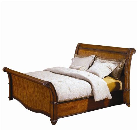 King Size Sleigh Bed King Size Sleigh Bed With High Profile Footboard By Aspenhome Wolf And Gardiner Wolf Furniture