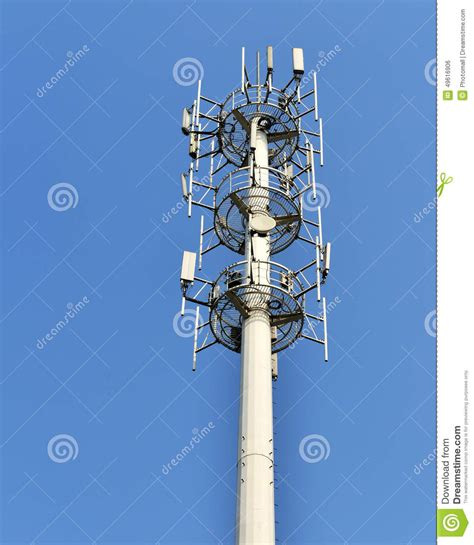 cell phone antenna tower stock photo image  telecommunications