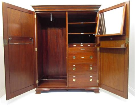wonderful solid mahogany fitted compactum wardrobe