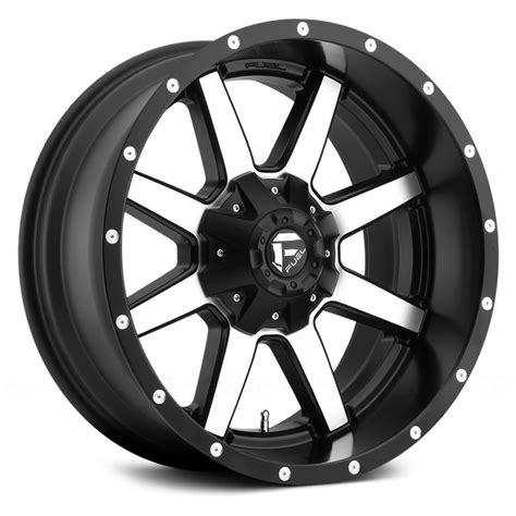 Wheels Fuel fuel 174 maverick 1pc wheels matte black with machined rims