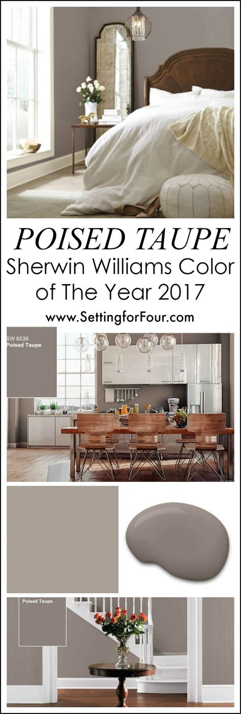 poised taupe color schemes sherwin williams poised taupe color of the year 2017
