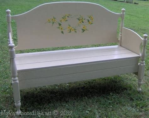 make a bench from a bed full sized maple headboard bench headboard bench diy