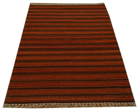 striped flat weave rug flat weave woven 100 wool durie kilim striped rug sh15788 traditional area