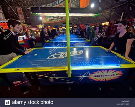 arcade air hockey table a of air hockey in an arcade on brighton pier