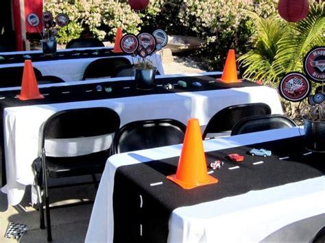 cing themed table decorations cars theme birthday d 233 cor ideas decozilla