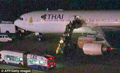 bomb threat thai airways flight lands in la after written