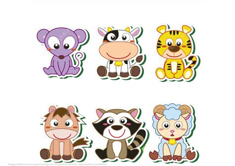 printable paper animals printable baby animals stickers free printable