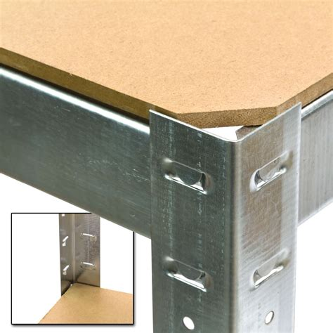 regal verzinkt steckregal kellerregal verzinkt mit 5 holzb 246 den 180x90x40 cm