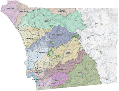 County Of San Diego Records Watersheds Of San Diego County
