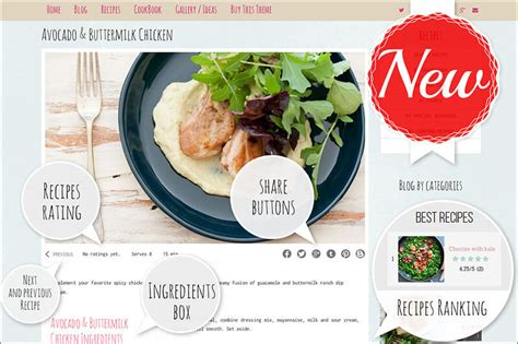 20 food blog themes free premium templates creative