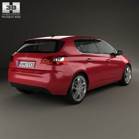 peugeot 308 models peugeot 308 2014 3d model humster3d