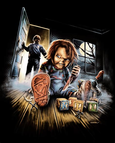 film chucky part 2 chucky artwork buscar con google horror pinterest