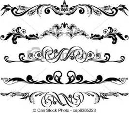 Decorative Divider Vektoren Von Satz Von Horizontal Verzierungen 2
