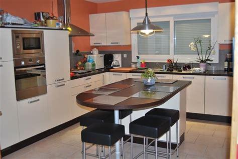 ilot central cuisine avec table cuisine ilot central table manger galerie avec cuisine