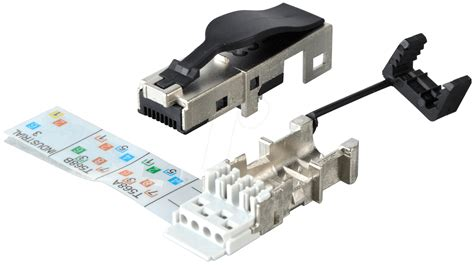 Cat 6 Rj 45 Connector By dat 417522 rj45 connector ip20 cat 6 shielded at