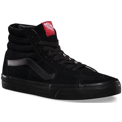 Vans Sk8 High Black Navy vans sk8 hi in black black getoutsideshoes