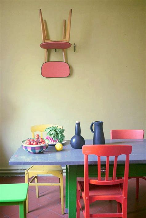 colorful dining room chairs multi colored dining chairs a playful touch for the d 233 cor