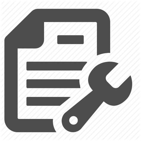 repair icon document file fix repair sheet of paper tool wrench