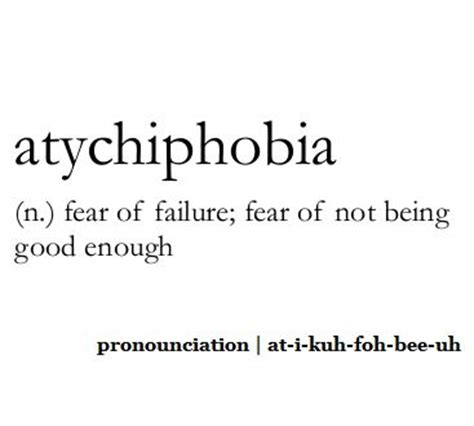 tattoo quotes about being good enough atychiphobia n fear of failure fear of not being good