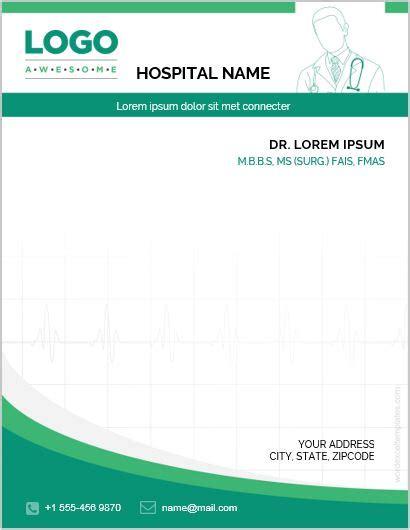 editable letterhead template business theme 2 5 best ms word letterhead templates for hospitals clinics