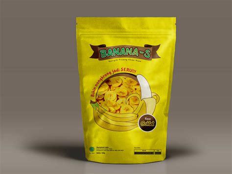 keripik pisang sribu label design design label keripik pisang b a n a n